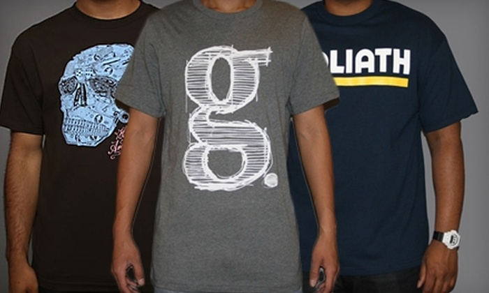 Goliath - New York: $20 for $40 Worth of T-Shirts, Shorts, and Footwear at Goliath