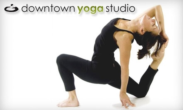 Downtown Yoga Studio - City Centre: $35 For One Month of Unlimited Yoga at Downtown Yoga Studio