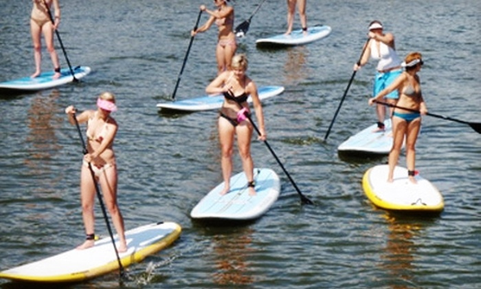 MN Surf Co. - Cedar-Isles-Dean: $40 for One Stand-Up Paddleboard Lesson ($95 Value) or $50 for One Kiteboarding Lesson ($100 Value) from MN Surf Co.