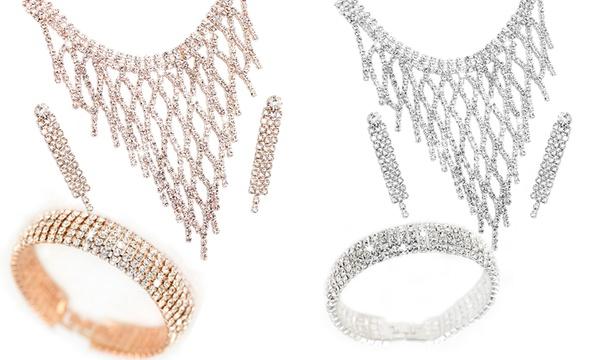 1 ou 2 parures bijoux Sibyl ornées de cristaux Swarovski®