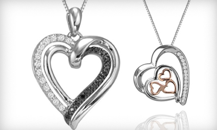 Accessorize This: Sterling Silver Heart Pendants from Accessorize This (Up to 80% Off). Three Options Available.