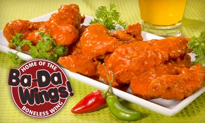 Ba-Da Wings - Carrboro Central Business District: $10 for $20 Worth of Wings, Wraps, and More at Ba-Da Wings
