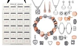 Calendrier de l'avent bijoux fabriqués avec des cristaux Swarovski®