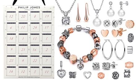 Calendrier de l'Avent avec 24 bijoux ornés de cristaux Swarovski® Philip Jones
