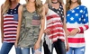 Leo Rosi Women's USA Day Top. Plus Sizes Available.