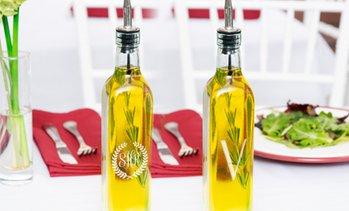 Personalized Oil Bottle with Pour Spout from Monogram Online