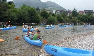 Canoas Martos: Descenso del río Sella en canoa para 2, 4 o 6 personas desde 31,80 € con Canoas Martos