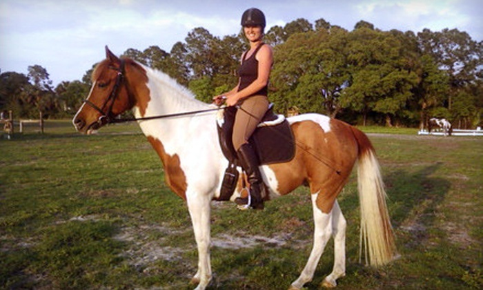 Hidden Acres Equestrian Center - Delespine On Indian River: Introductory Group Horse-Riding Lesson or a Kids' Riding Camp at Hidden Acres Equestrian Center in Cocoa (Half Off)