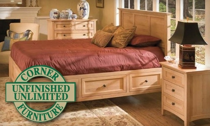 Corner Furniture Stores - East London: $29 for $79 Toward Unfinished Furniture and Home Accents at Corner Furniture