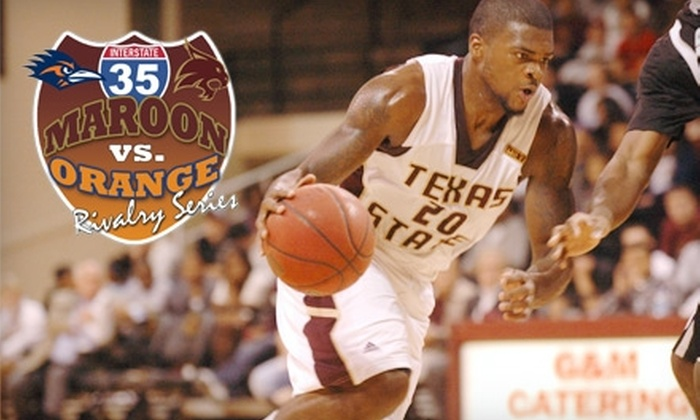 Texas State University Bobcats - San Marcos: $5 for One Men's Basketball Ticket to Texas State University vs. University of Texas at San Antonio on February 26 in San Marcos (Up to $10 Value)