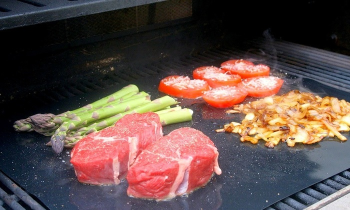 Bbq Grill Or Oven Mat Set Of 2 Groupon Goods