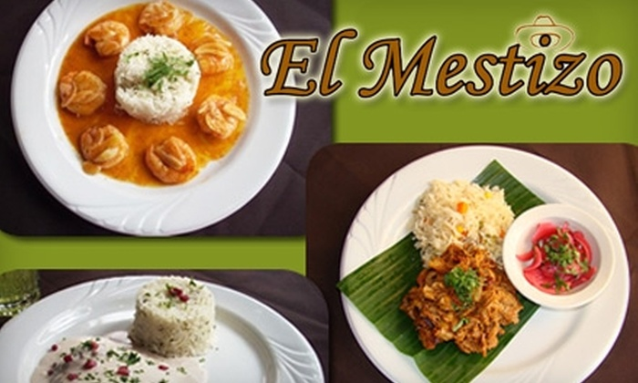 El Mestizo - First Hill: $10 for $25 Worth of Authentic Mexican Fare and Drinks at El Mestizo