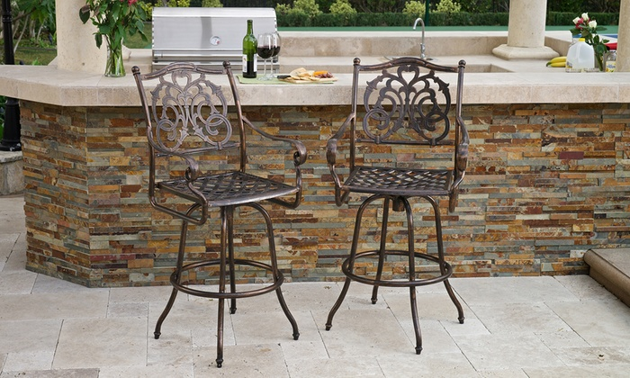 Outdoor Bar Stools Set Of 2 Groupon Goods