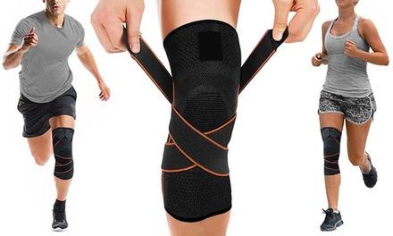 1 o 2 fasce a compressione per ginocchio con cinghie regolabili