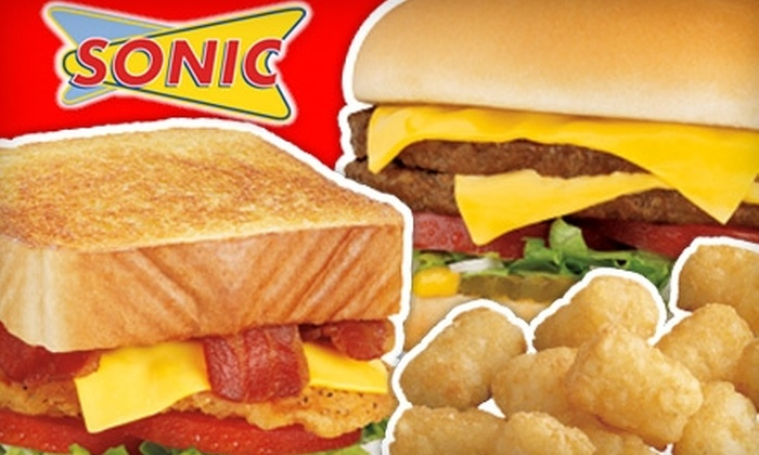 Sonic - Multiple Locations: $5 for $10 Worth of Drive-in Eats at Sonic. Choose One of Six Locations.