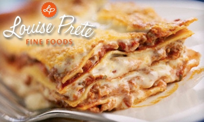 Louise Prete Fine Foods - Downtown Toronto: $25 for $50 Worth of Prepared Italian Meals from Louise Prete Fine Foods
