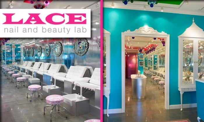 Lace Nail Lab - South Pointe: $29 for Lace Signature Mani-Pedi at Lace Nail and Beauty Lab