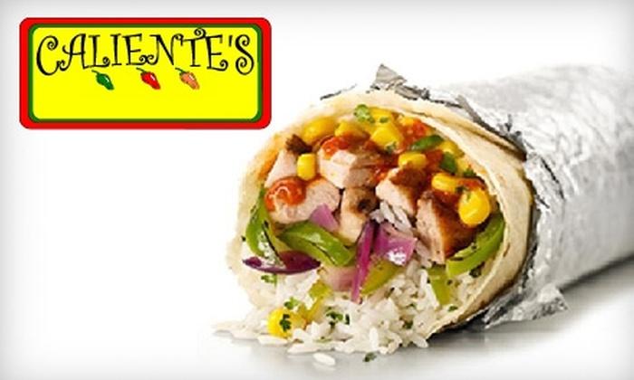 Caliente's Burrito Shop - Macon: $5 for $10 Worth of Mexican Fare at Caliente's Burrito Shop