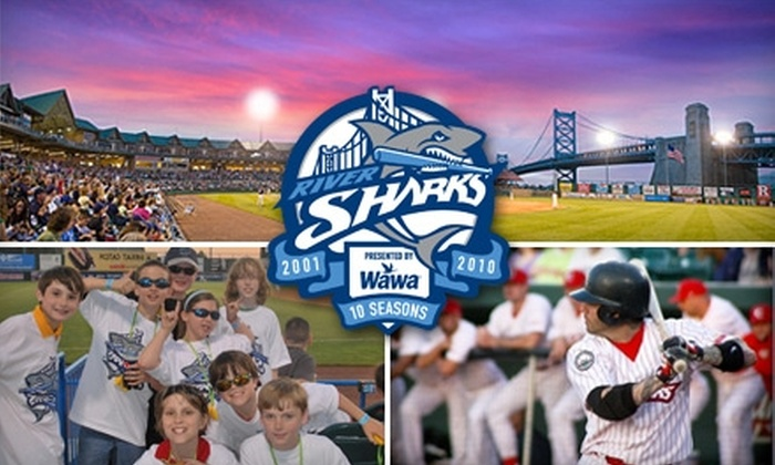 Camden Riversharks - Cooper Grant: $11 Field-Level Ticket Plus a Hot Dog, Bag of Chips, Bottle of Water, and Five Spins on The Shark Wheel at an Upcoming Camden Riversharks Game ($23 Value)