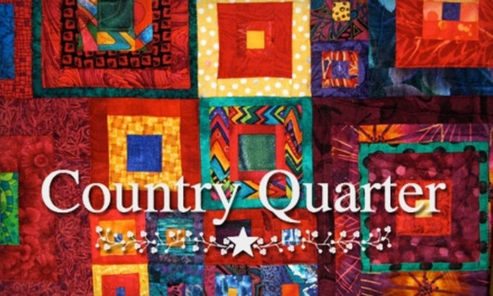 Country Quarter - Napanee: $20 for $45 Worth of Any Quilting Class at Country Quarter