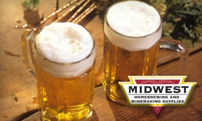 Midwest Homebrewing and Winemaking Supplies - St. Louis Park: $44 for a Brewing Basics Starter Kit, Choice of Ingredient Kit, and Instructional DVD from Midwest Homebrewing and Winemaking Supplies