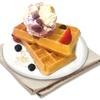 Belgian Waffle and Ice Cream