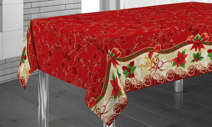 nappe de table no l avec designs et dimensions assortis groupon. Black Bedroom Furniture Sets. Home Design Ideas