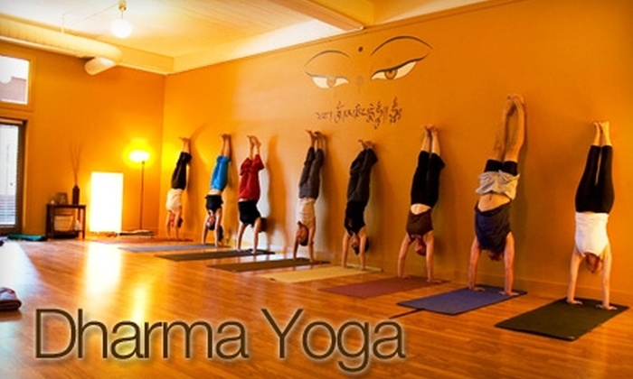 Dharma Yoga - Austin: $39 for One Month of Unlimited Yoga at Dharma Yoga (Up to $150 Value)