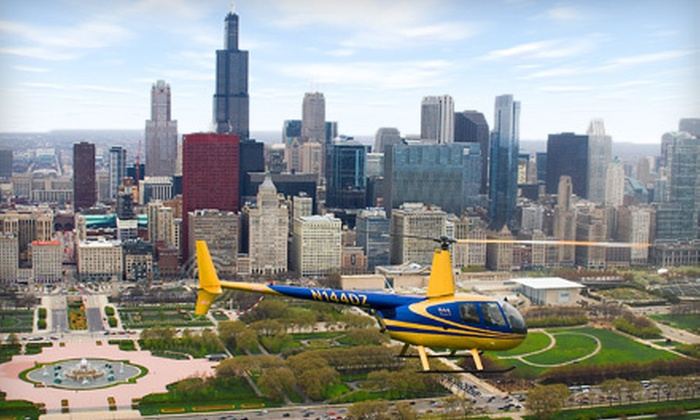 Sun Aero Helicopters Inc. - Lansing: $99 for a Helicopter Tour of Chicago from Sun Aero Helicopters Inc. in Lansing ($166 Value)