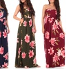 Women's Strapless Maxi Dress with Pockets