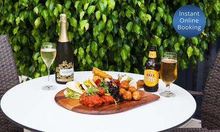 Sharing Platter and Wine or Beer for Two $29 or Four People $57 at No 15 Restaurant And Bar Up to $122 Value