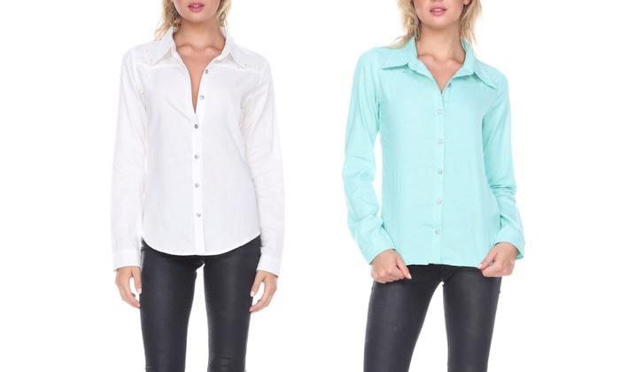 Women's Long Sleeve Button-Down Shirt