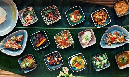 """Lunch bij Ron Gastrobar Indonesia: rijsttafel """"Ron"""" voor 2 of 4 personen in Ouderkerk aan de Amstel, nabij Amsterdam"""