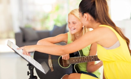 Four or Eight 30-Minute At-Home Private Music Lessons from WindStars Music Academy (Up to 54% Off)