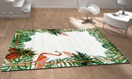 Tapis Tropical, Pineapple, Floral and Flamingo Rugs in Choice of Size