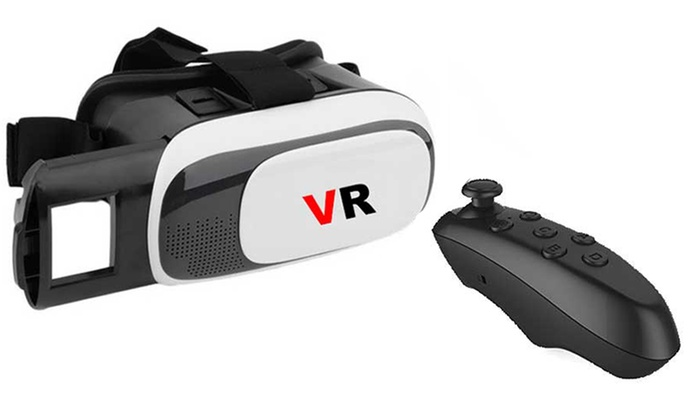 Groupon Goods Global GmbH: Virtual Reality Headset for €14.99 or with Bluetooth Remote for €19.99 (Up to 82% Off)