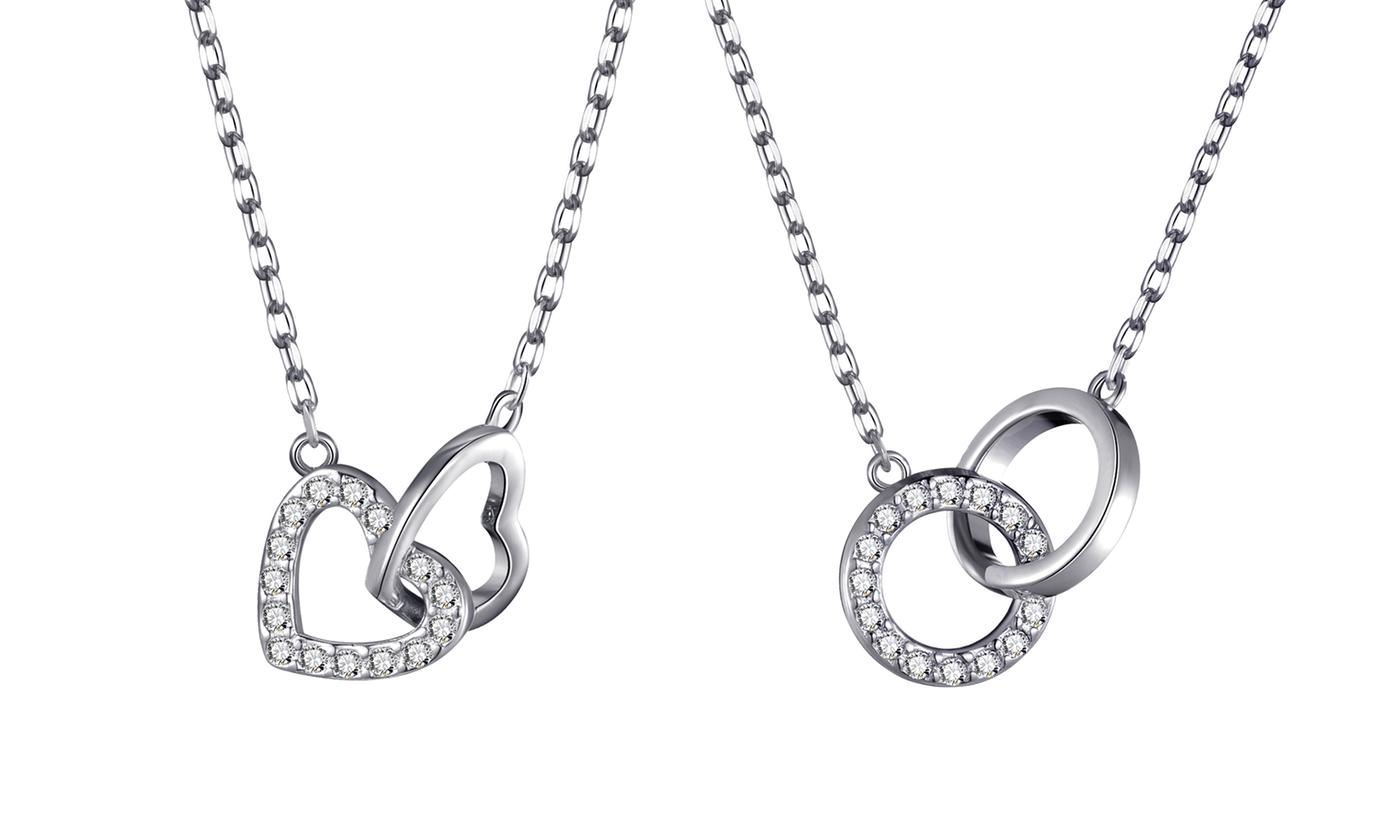 One or Two Philip Jones Link Necklaces with Crystals from Swarovski®