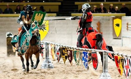Medieval Times is on Groupon today!! Get a BIG discount on child and adult tickets for Medieval Times dinner and tournament show – plus use 20% OFF code with code 20NOW to drop ticket prices even lower! (Up to $30 in savings).