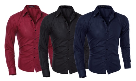 One (AED 69) Two (AED 129) or Three (AED 179) Mens Slim Fit Shirts