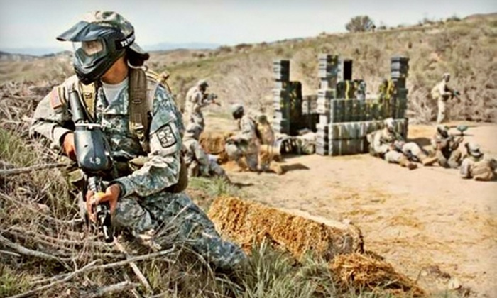 Paintball USA - Agua Dulce: Paintball Package with All-Day Admission, Unlimited Air Refills, 200 Paintballs, and Equipment or Paintball Party for Up to 15 at Paintball USA in Santa Clarita (Up to 78% Off)