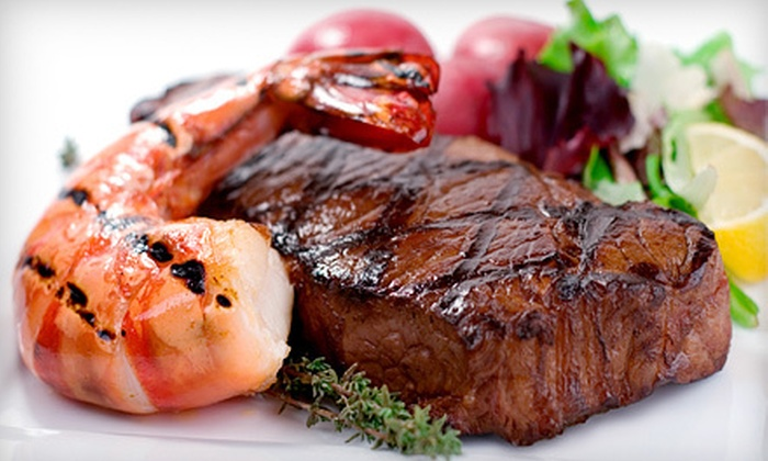 Woody's Wharf - West Newport Beach: Seafood and Steak for Lunch or Dinner at Woody's Wharf (Half Off)