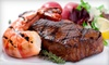 Woody's Wharf Newport - Newport Beach: Seafood and Steak for Lunch or Dinner at Woody's Wharf (Half Off)