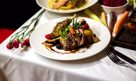 TwoCourse Meal with Glass of Wine for Two or Four at AM:PM Bohemian Restaurant