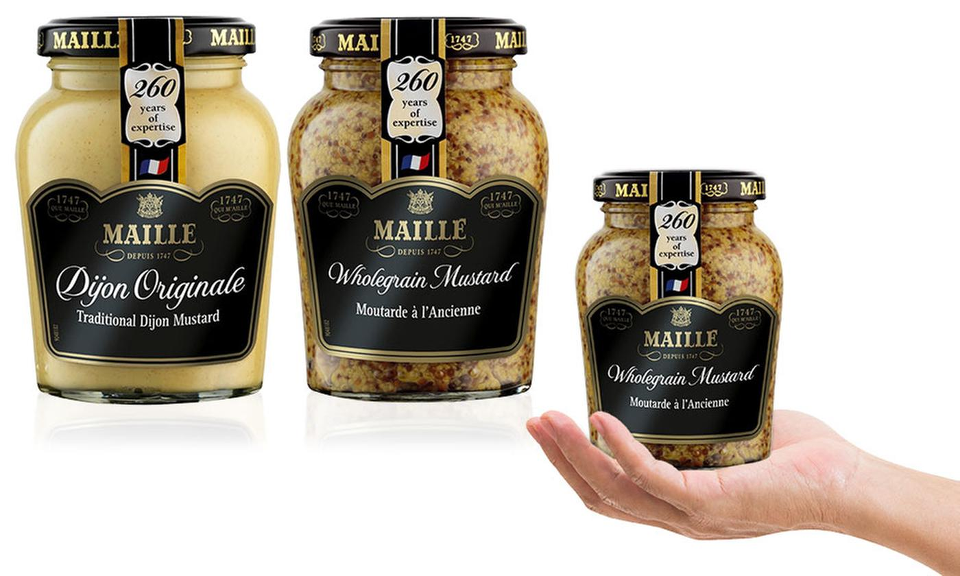 Maille Six-Pack of Wholegrain Mustard or Dijon Mustard