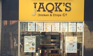 JAQK'S Chicken: Ten or 20 Buffalo Wings with Drinks and Sides at JAQK'S Chicken (Up to 46% Off)