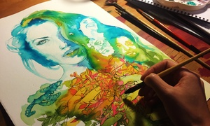 Araceli García Illustration: Curso de iniciación a la acuarela creativa o al retrato desde 19,95 € en Araceli García Illustration