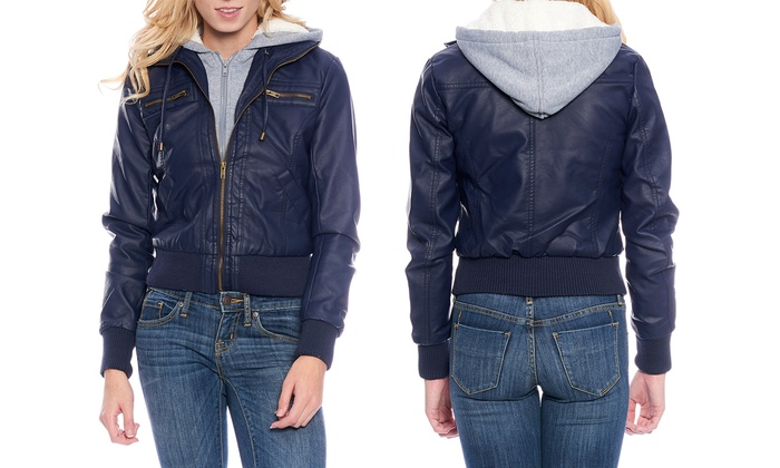 womens leather jackets at jcpenney