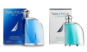 Nautica Blue or Classic Eau de Toilette for Men (3.4 Fl. Oz.) at Nautica Blue or Classic Eau de Toilette for Men (3.4 Fl. Oz.), plus 9.0% Cash Back from Ebates.