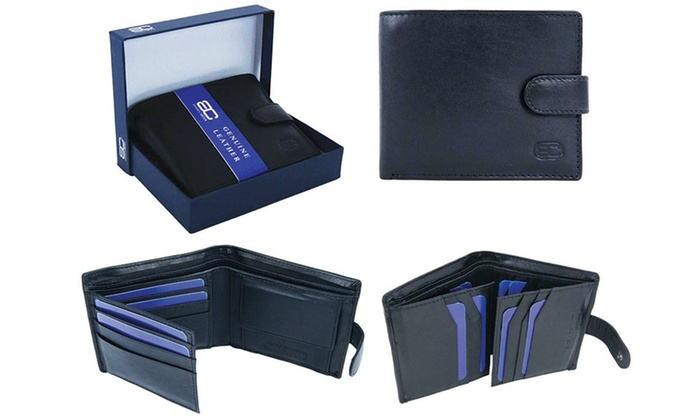 Adam Carter RFID Men's Leather Wallet in Choice of Style from £6.98
