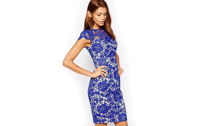 Women's Scarlett Knee-Length Lace Dress